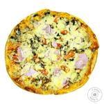 Пицца с ветчиной и грибами 500г