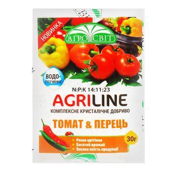 Добриво Агросвіт Agriline ine Томат та перець 30г - купити, ціни на Ашан - фото 1