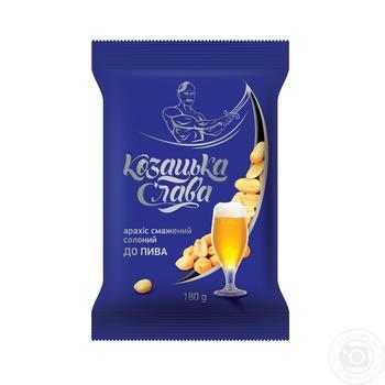 Арахис Козацкая слава К пиву жареный соленый 180г - купить, цены на Восторг - фото 1