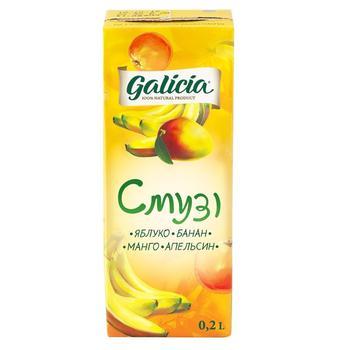 Сок Galicia Смузи Яблоко-Банан-Манго-Апельсин 200мл