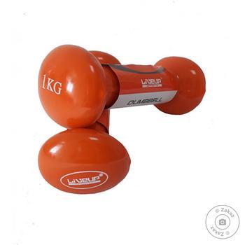 Гантелі пара LiveUP LS2001-1, 2х1KG, orange, 2шт - купить, цены на Novus - фото 1