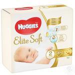 Подгузники Huggies Elite Soft 2 для новорожденных 4-7кг 24шт