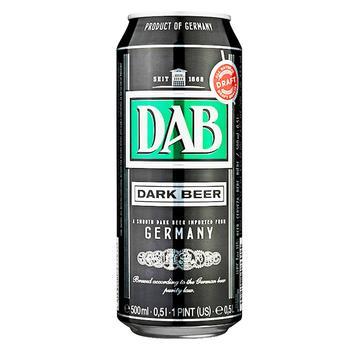 Пиво DAB темне фільтроване пастеризоване 4,9% 0,5л - купити, ціни на МегаМаркет - фото 1