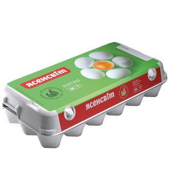 Яйця курячі Ясенсвіт С1 18шт - купити, ціни на Ашан - фото 1