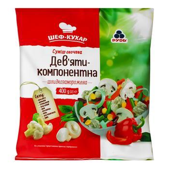 Rud Chef Nine-Component Quick-Frozen Vegetable Mix 400g