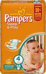 Підгузники дитячі Памперс Сліп енд Плей 4 Максі (7-14кг) Ромашка Джамбо упаковка 68шт
