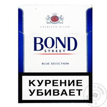 Cigarettes Bond Street Blue Selection 25pcs - buy, prices for  Vostorg - image 2
