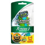 Станки Wilkinson Xtreme3 Sensitive одноразовые мужские 3+1