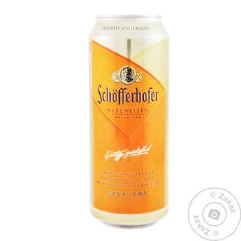 Schöfferhofer Hefeweizen Light Unfiltered Wheat Beer 5% 0,5l - buy, prices for Auchan - photo 1