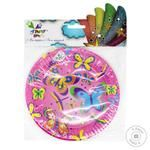 Тарелки Party House Бабочки бумажные одноразовые 6шт 18см