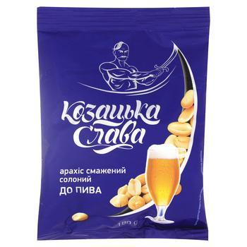 Арахис Козацька розвага К пиву жареный соленый 200г Украина