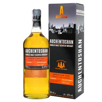 Auchentoshan American Oak 8yrs whisky 40% 0,7l - buy, prices for CityMarket - photo 2