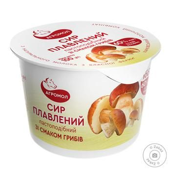 Agromol Processed Cheese With Mushrooms 60% 100g