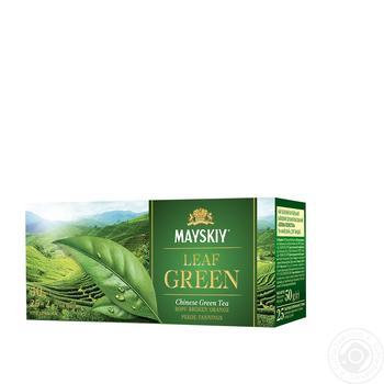 Чай зеленый Майский Зеленый Лепесток в пакетиках 25шт*1.5г