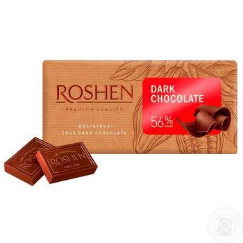 Roshen Classic Extra Dark Chocolate 56% 90g - buy, prices for Novus - image 1