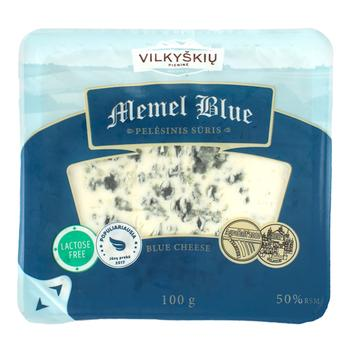 Vilkyskiu Memel Blue Cheese semi-solid with mold 100g - buy, prices for CityMarket - photo 1