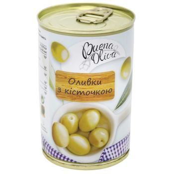 Buena Oliva Green Olives with Stone 314ml - buy, prices for Furshet - image 1