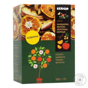 Компот мандариновый Sergio сушеный 150г
