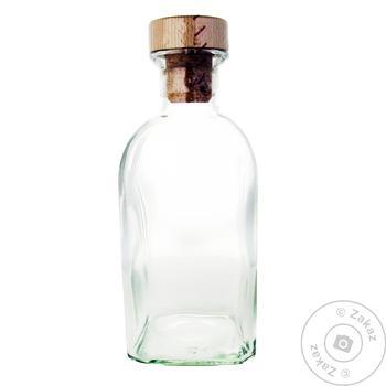 Бутылка стеклянная Frasca EverGlass с деревянной пробкой 700мл - купить, цены на Метро - фото 1