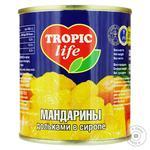 Мандарини Tropic Life дольками в сиропі 314мл - купити, ціни на МегаМаркет - фото 1