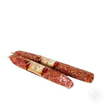 Колбаса Салями Ла-Парма Фарро Кременчугмясо сырокопченая высший сорт
