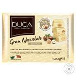 Шоколад білий Gran Nocciolato Bianco з цілими лісовими  горіхами та пластівцями 100г