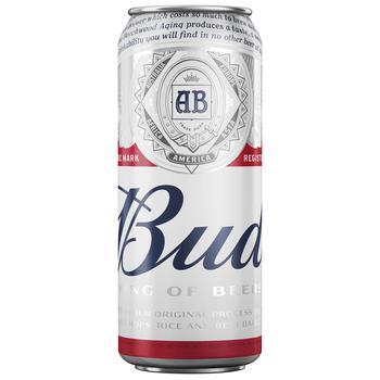 Пиво Bud світле 4,8% 0,5л