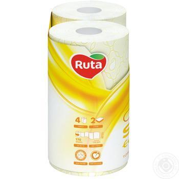 Папір туалетний Ruta Aroma Персик жовтий 2-шаровий 4шт - купити, ціни на Novus - фото 2