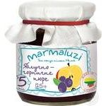 Puree Marmaluzi blueberry for children from 5 months 125g glass jar