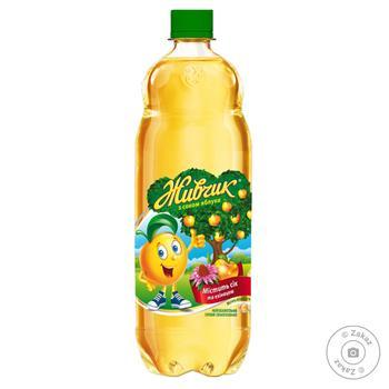 Напиток безалкогольный Живчик с соком яблока соковый сильногазированный 1л - купить, цены на Novus - фото 1