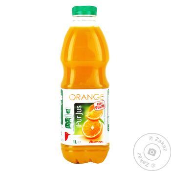 Сок Ашан апельсиновый натуральный 1л