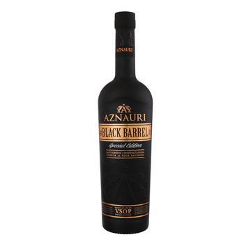 Коньяк Aznauri Black Barrel 5 лет 40% 0,5л - купить, цены на Фуршет - фото 1
