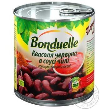 Фасоль Бондюэль красная в пикантном соусе чили 425мл - купить, цены на Novus - фото 1