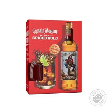 Ром Captain Morgan Spiced Gold 35% 0,7л + кружка  набор