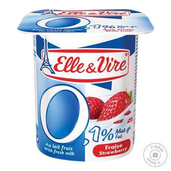 Elle&Vire Milk Dessert with Strawberry 0,1% 125g