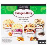 Морозиво Haagen Dazs Улюблена колекція мультипак 4х95мл