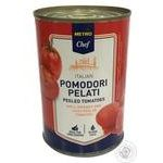 Metro chef pelati in own juice tomato 425ml
