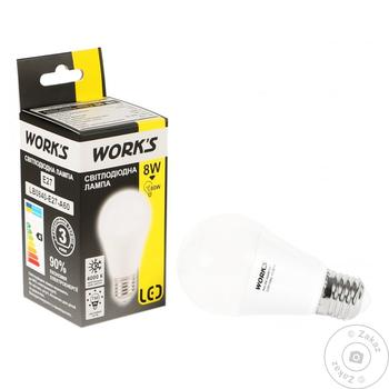 Лампа светодиодная Work's 8W E27