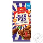 Шок Корона Max Fun 160 г мол. з мармеладом, печивом, карамеллю