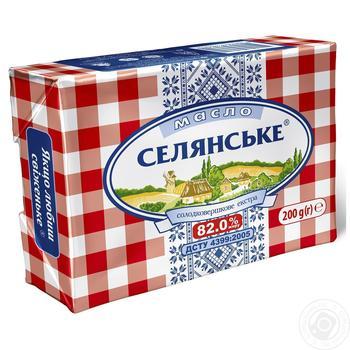 Масло Селянське солодковершкове 82% 200г - купити, ціни на Ашан - фото 2