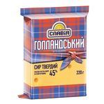 Сир твердий Голландський брусковий 45% Славія 220г - купити, ціни на Таврія В - фото 1