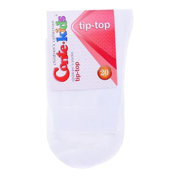 Conte Kids Tip-Top White Children's Socks Size 20