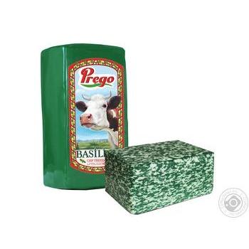Сыр Prego Basilico твердый 50%