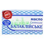 Масло селянское Балмолоко 72.5% 200г