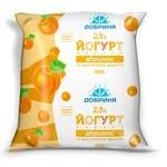 Йогурт Добрыня абрикос с кусочками фруктов 2.5% 450г пленка Украина
