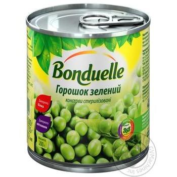 Горошек Бондюэль зеленый консервированный 212мл - купить, цены на Метро - фото 1