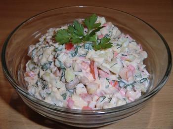 Салат з квасолею і болгарським перцем