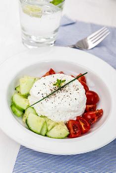 Летний творожно-овощной ужин