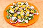 Итальянский салат с запеченной тыквой