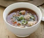 Китайский суп с фрикадельками и древесными грибами